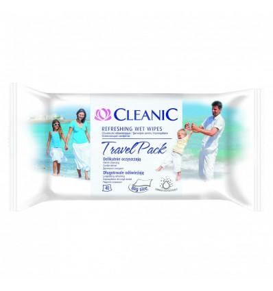 CLEANIC Antibacterial Travel Pack 40szt - chusteczki antybakteryjne