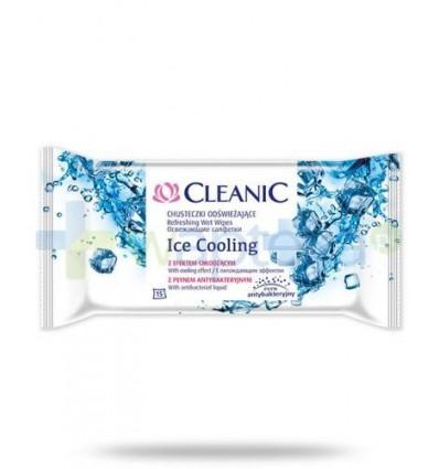Cleanic Ice Cooling chusteczki antybakteryjne skutecznie oczyszczające i odświeżające 15 sztuk